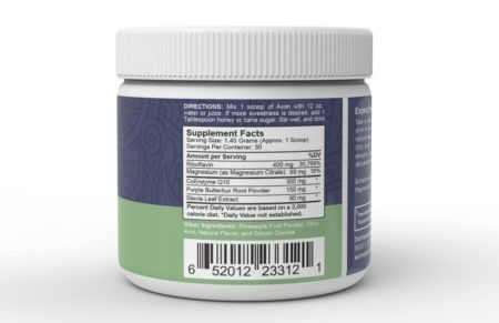 Axon Migraine Supplement - Ingredients Close Up